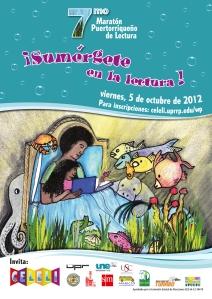 Afiche 7mo Maratón Puertorriqueño de Lectura