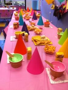 Mesa de ice cream social