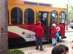 Trolley en la Plaza Palmer